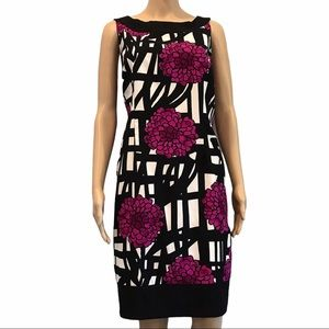 Jessica fitted shift dress floral print size 14